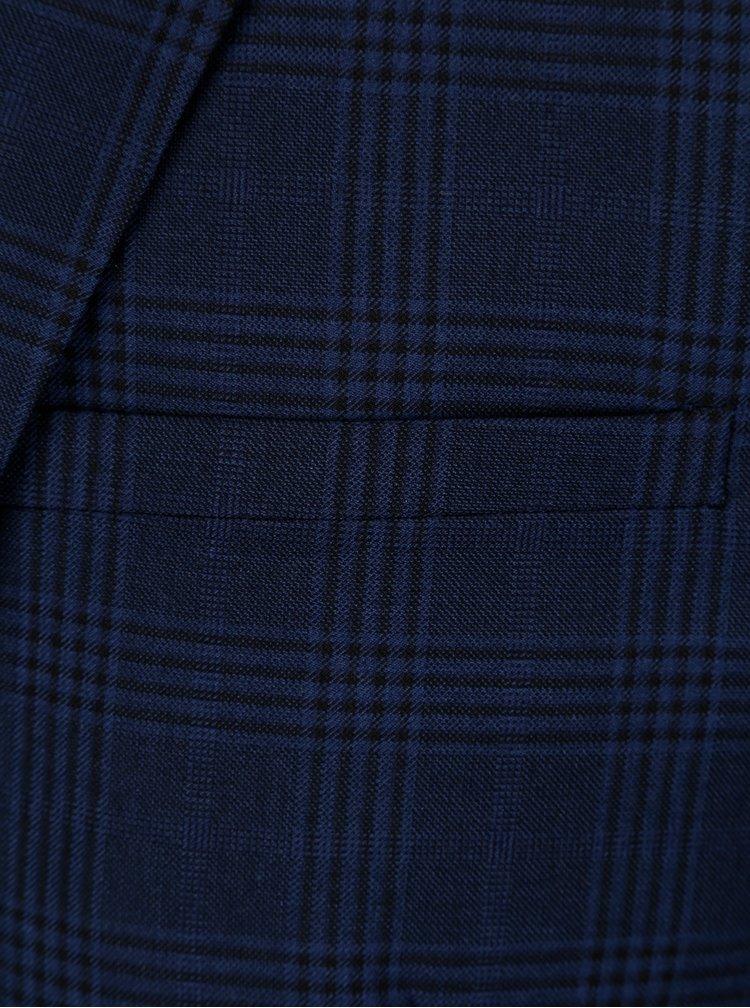 Tmavomodré kockované slim fit sako Casual Friday by Blend