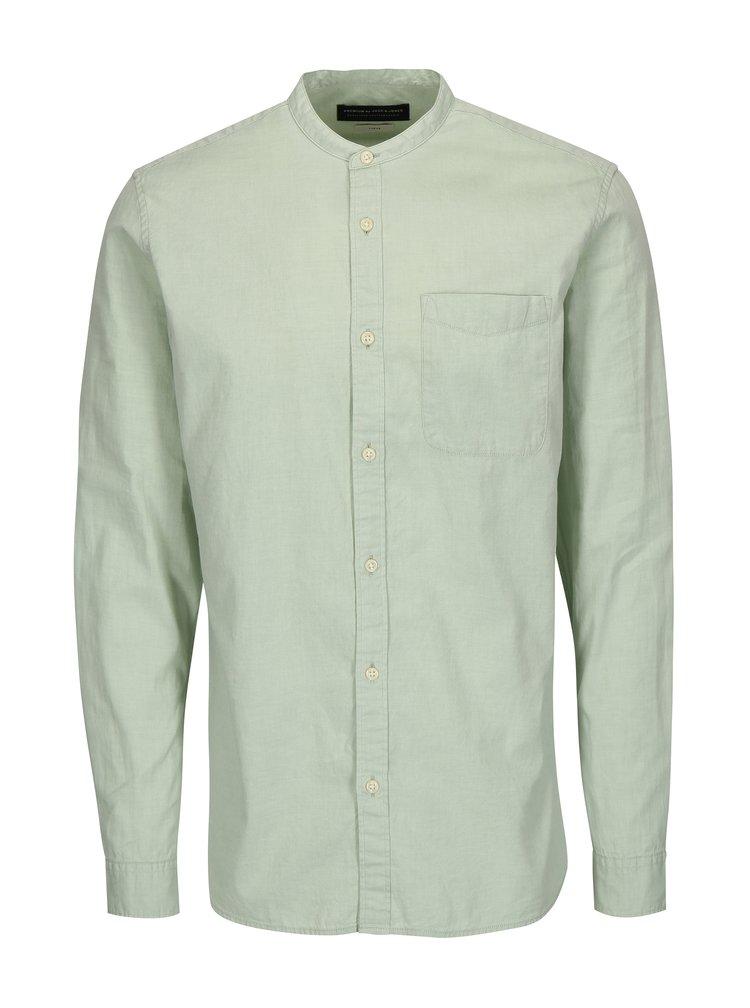 Světle zelená slim fit košile Jack & Jones Kevin