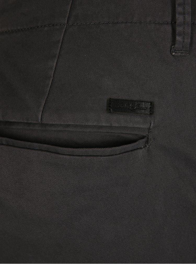 Tmavě šedé slim fit chino kalhoty Jack & Jones Marco