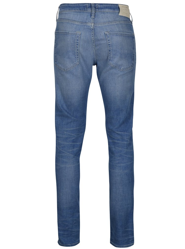 Svetlomodré slim fit rifle Jack & Jones Tim