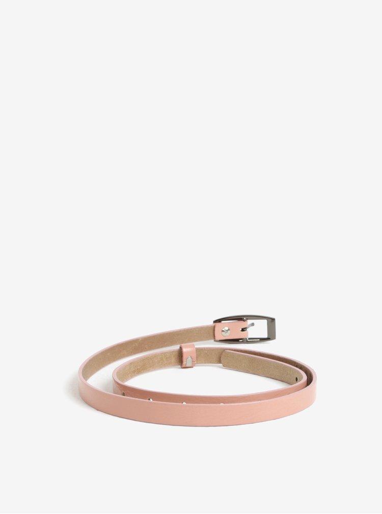 Curea roz ingusta din piele naturala pentru femei - KARA