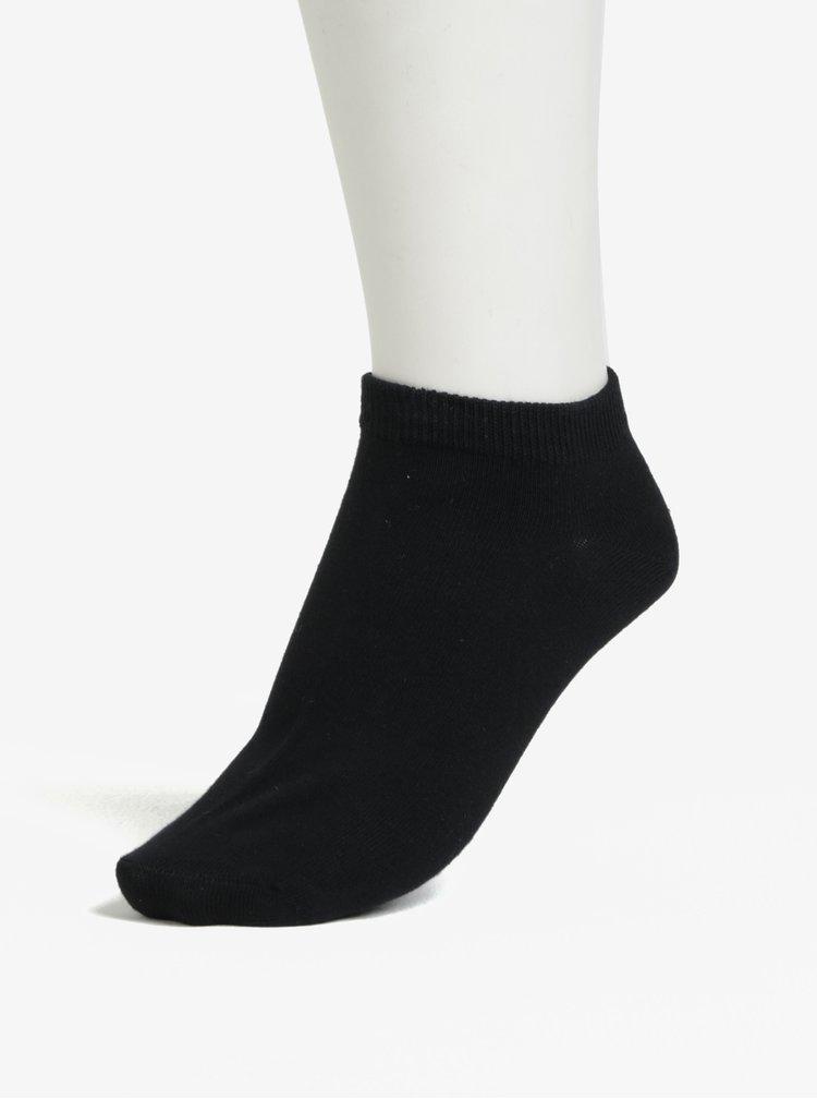 Sada pěti párů nízkých ponožek v černé barvě Jack & Jones Dongo