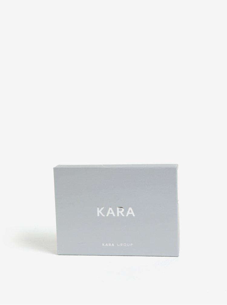 Portofel negru&turcoaz din piele naturala pentru femei - KARA