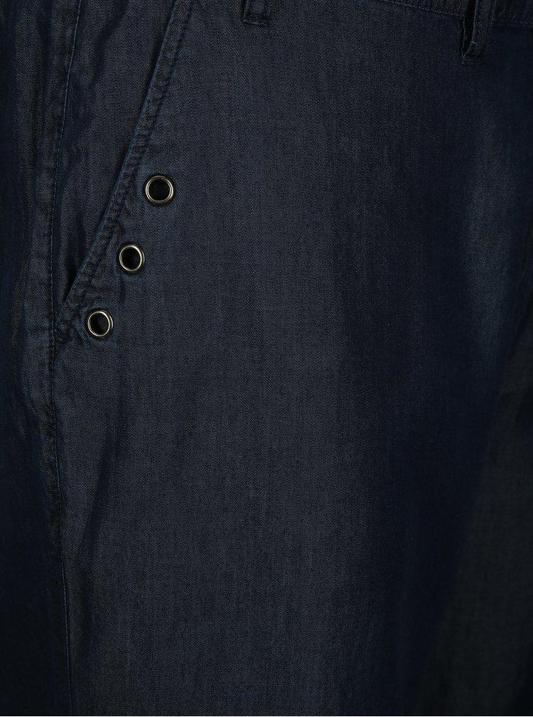 Tmavě modré volné kalhoty s páskem Ulla Popken