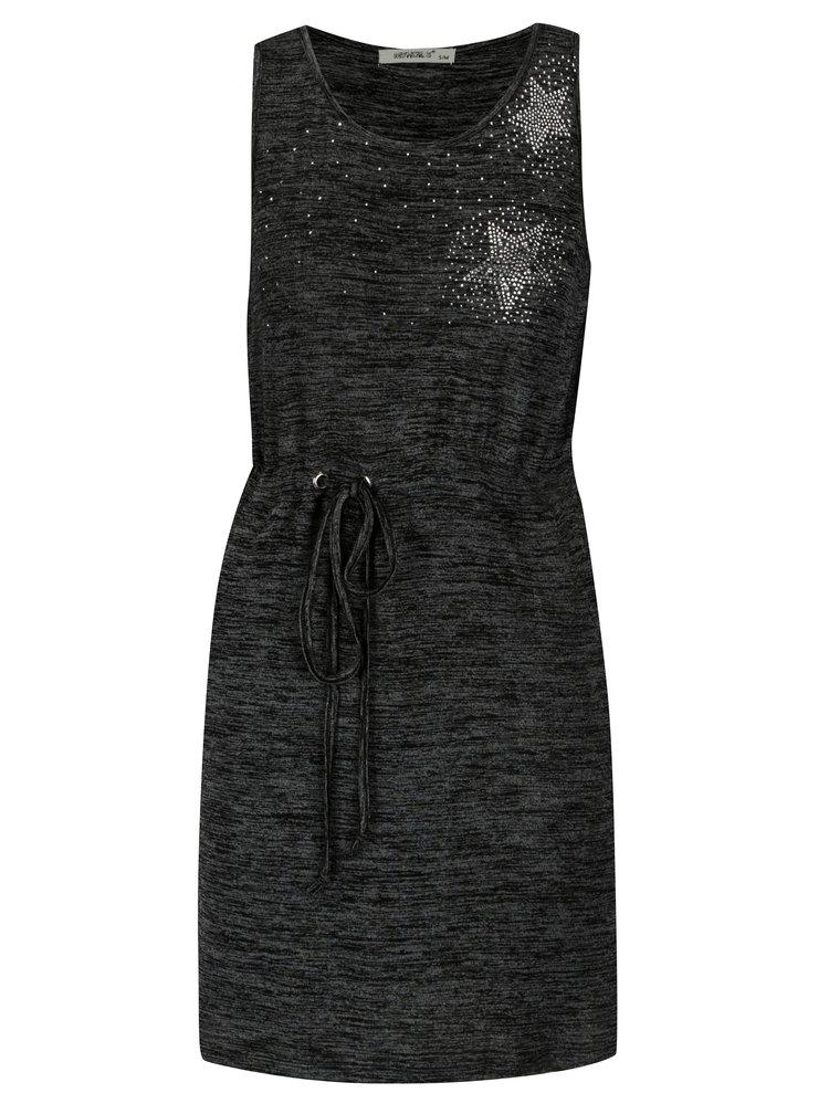 Tmavě šedé žíhané šaty Haily's Steffanie
