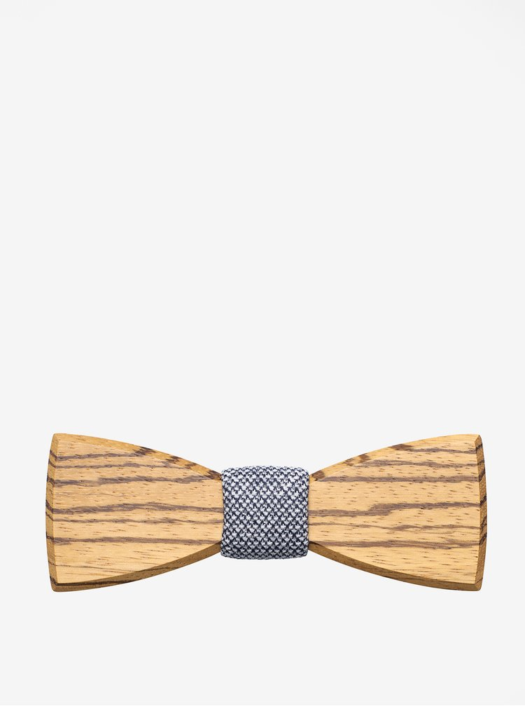 Hnědý pánský dřevěný motýlek BeWooden Dolor