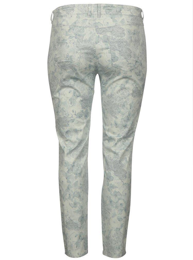 Svetlosivé vzorované nohavice Ulla Popken