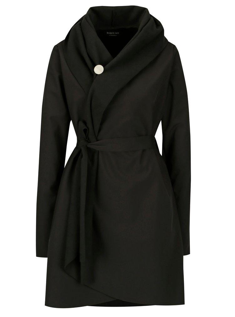 Černý voděodolný kabát Design by Lucie Jack