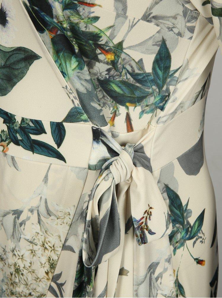 Krémové květované šaty Ulla Popken