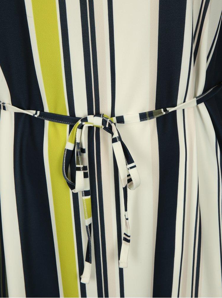 Modro-krémové pruhované šaty Ulla Popken