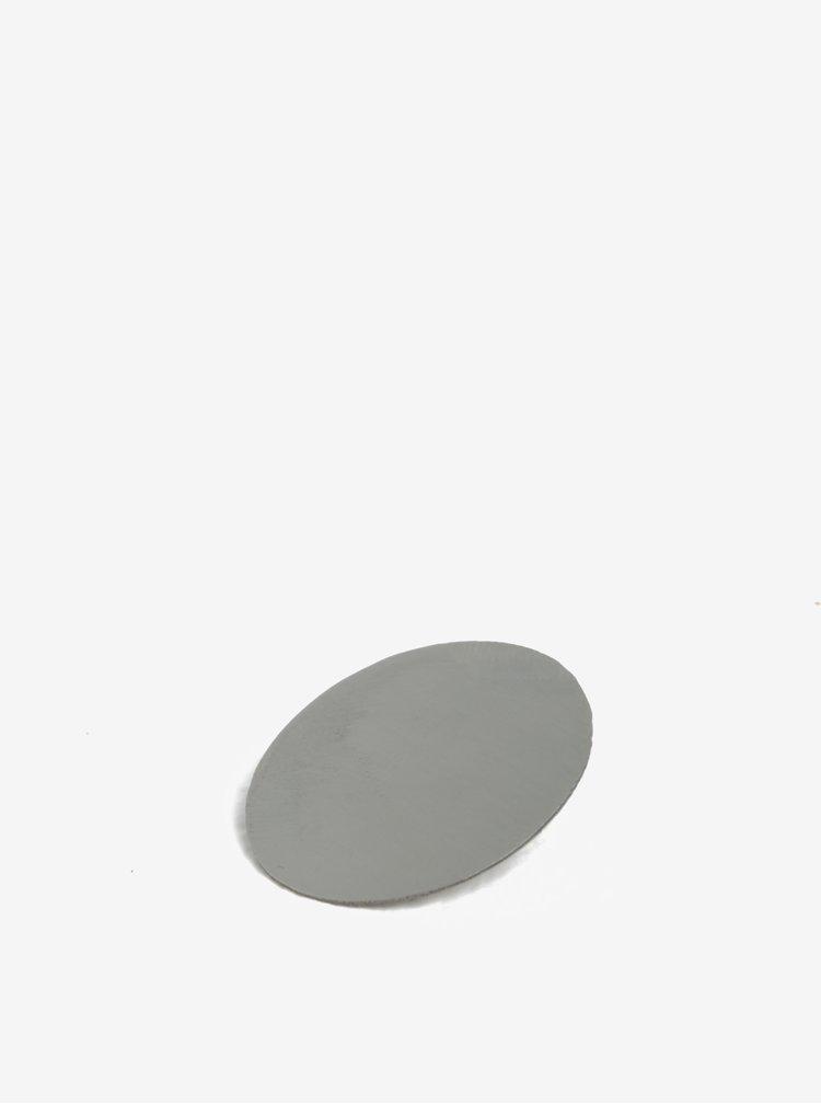 Kulatá brož ve stříbrné barvě Design by Lucie