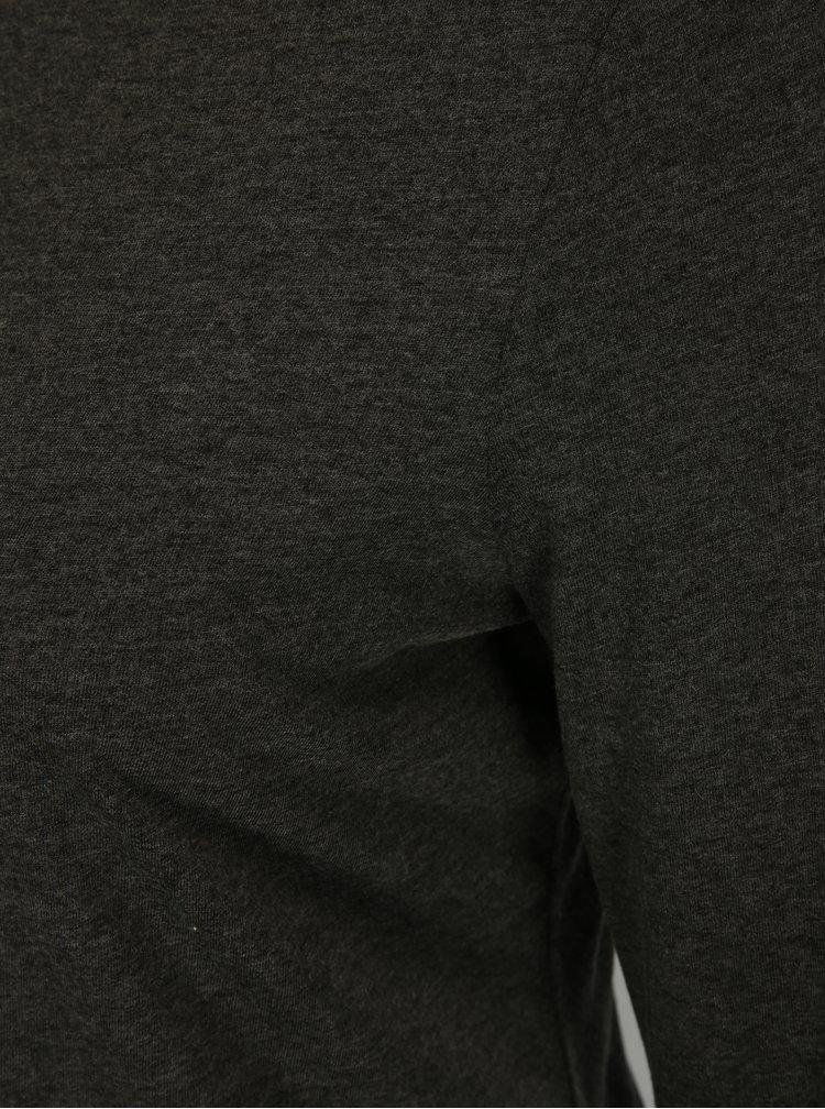 Bluza basic gri inchis Ulla Popken