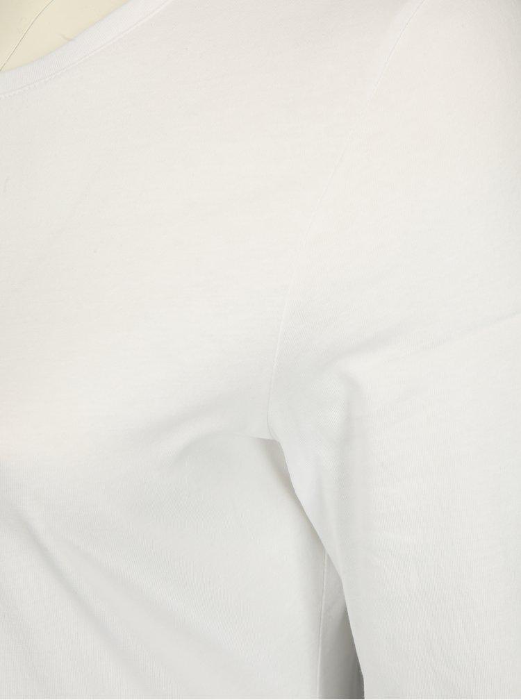 Bílé tričko s dlouhým rukávem Ulla Popken