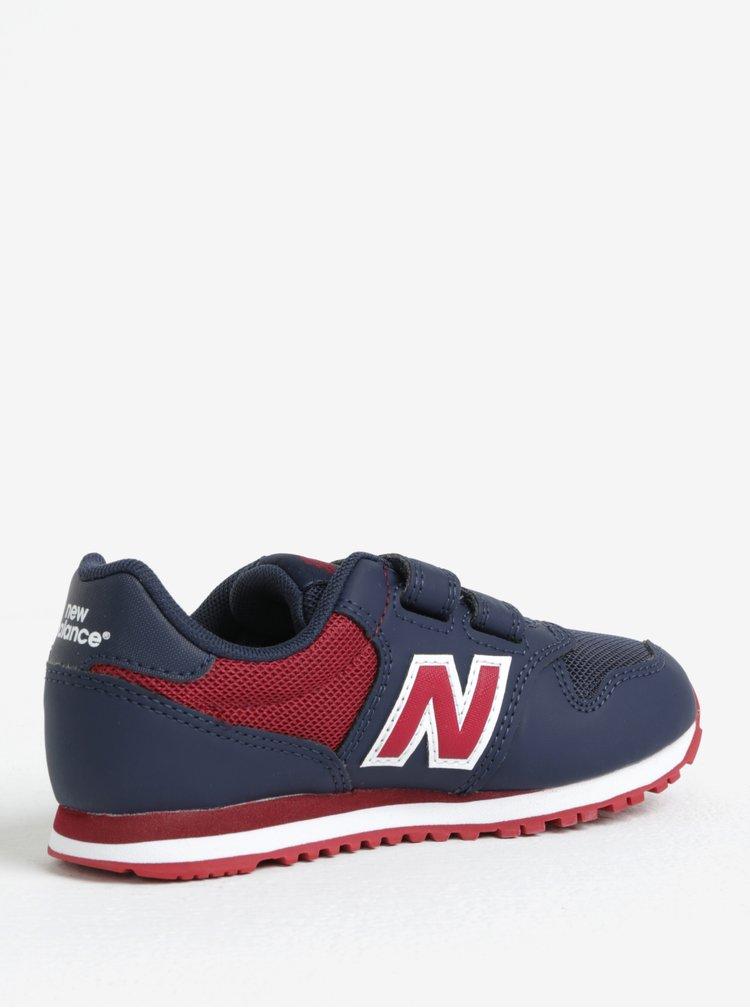 Červeno-modré dětské tenisky New Balance