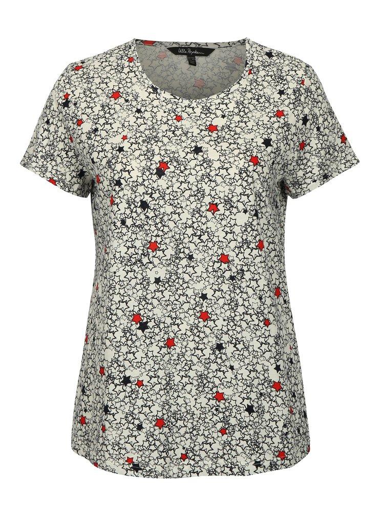 Modro-bílé vzorované tričko Ulla Popken