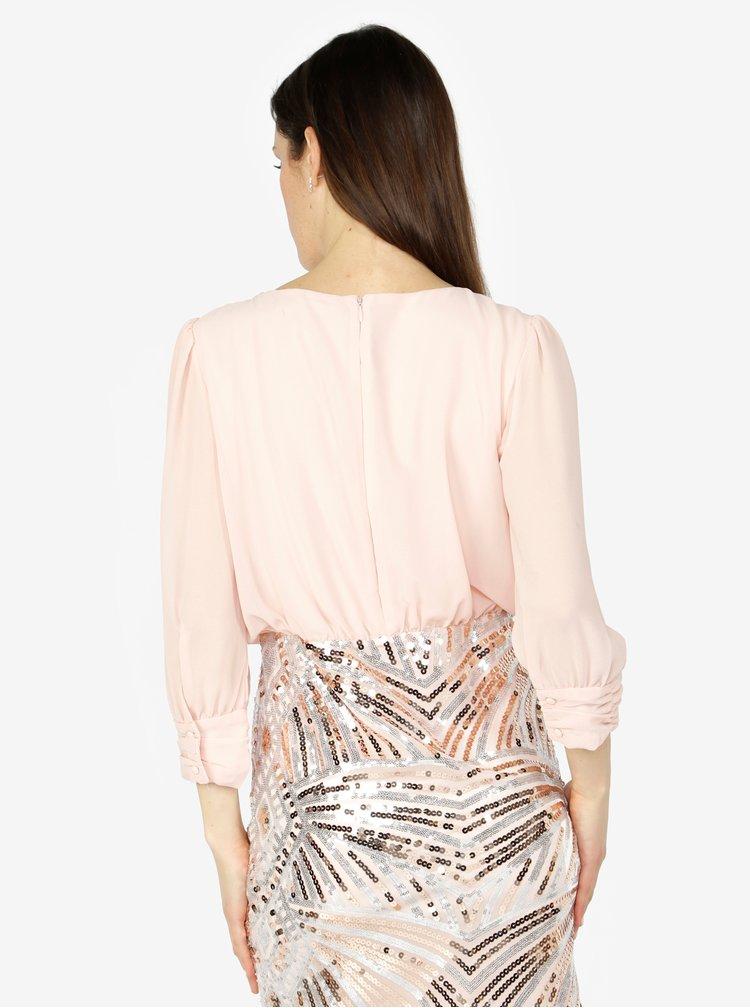 Staroružové šaty s flitrami VERO MODA Elenora