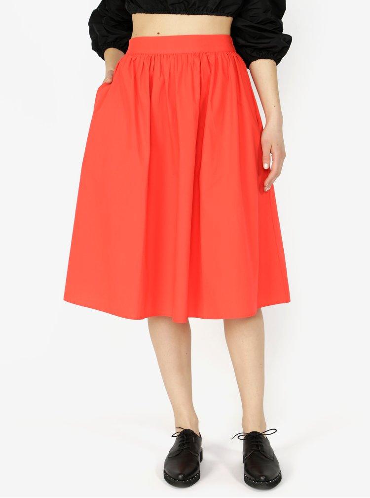 Červená sukně VERO MODA Ladina