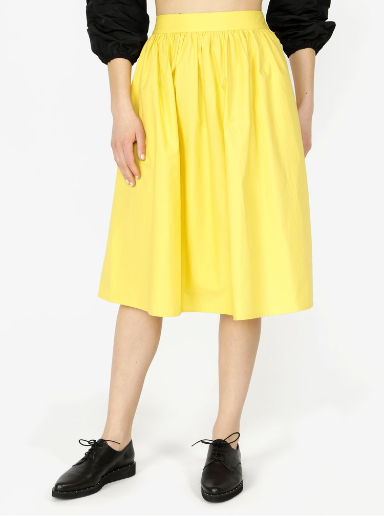 Žlutá sukně VERO MODA Ladina