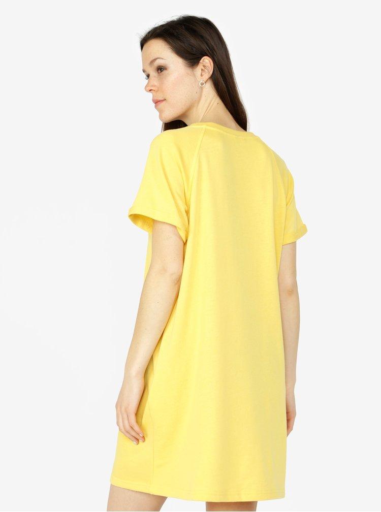 Žluté mikinové šaty s kapsami VERO MODA Blaire