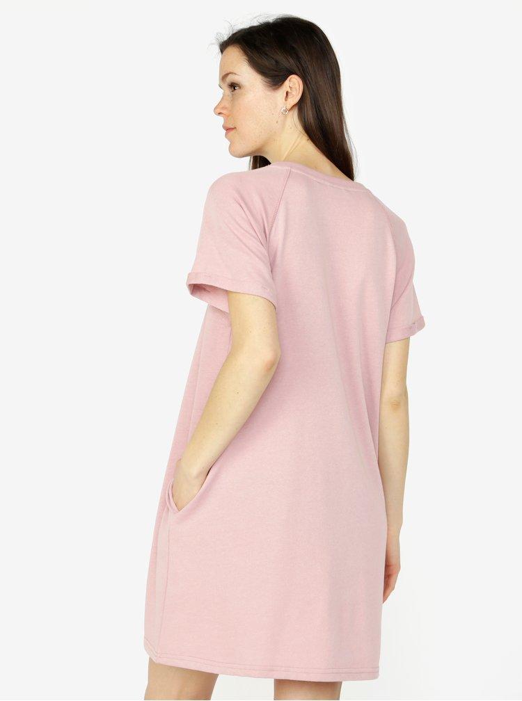 Starorůžové mikinové šaty s kapsami VERO MODA Blaire