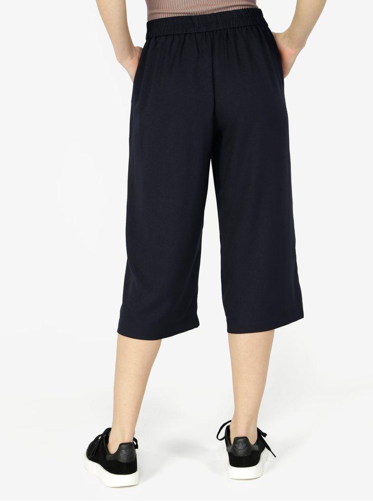 Tmavě modré culottes s vysokým pasem VERO MODA Isabel