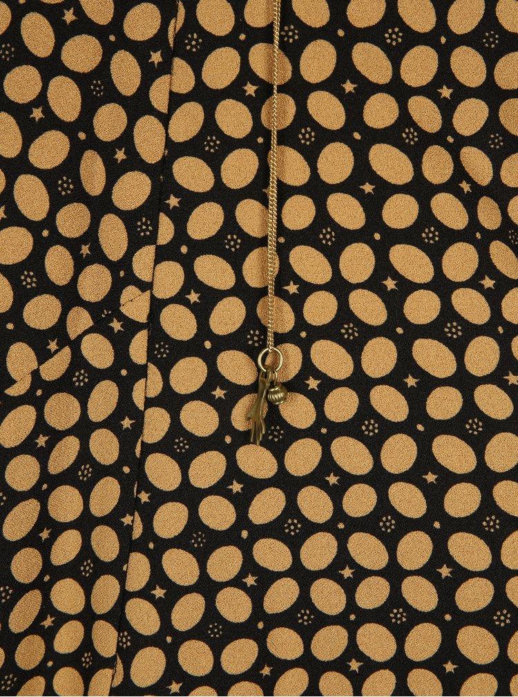 Sacou galben mustar cu print geometric si lant auriu - Scotch & Soda