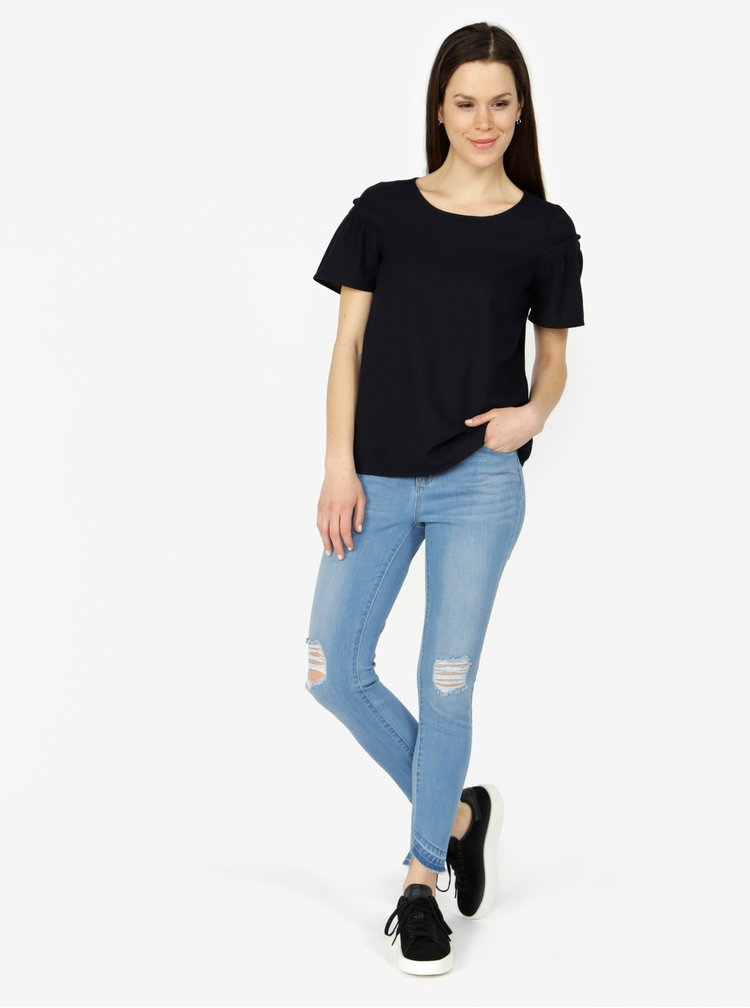 Svetlomodré slim fit rifle VERO MODA Seven