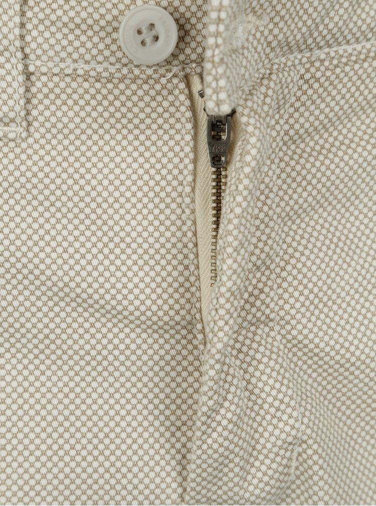 Béžové vzorované slim fit kraťasy Casual Friday by Blend
