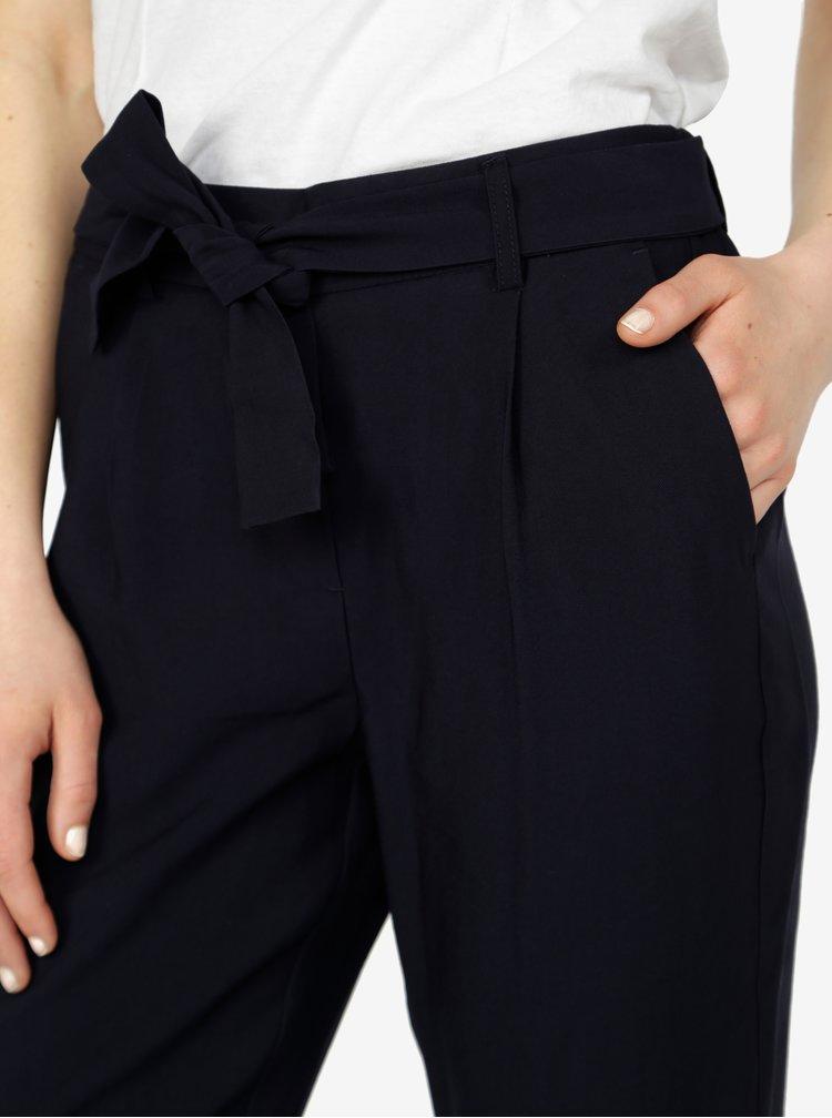 Tmavě modré kalhoty VERO MODA Elke