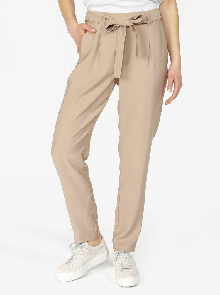 Béžové kalhoty VERO MODA Elke