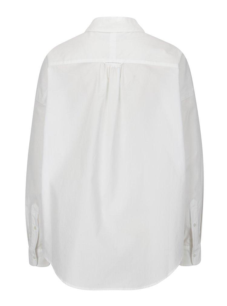 Bílá košile s prodlouženým zadním dílem Scotch & Soda