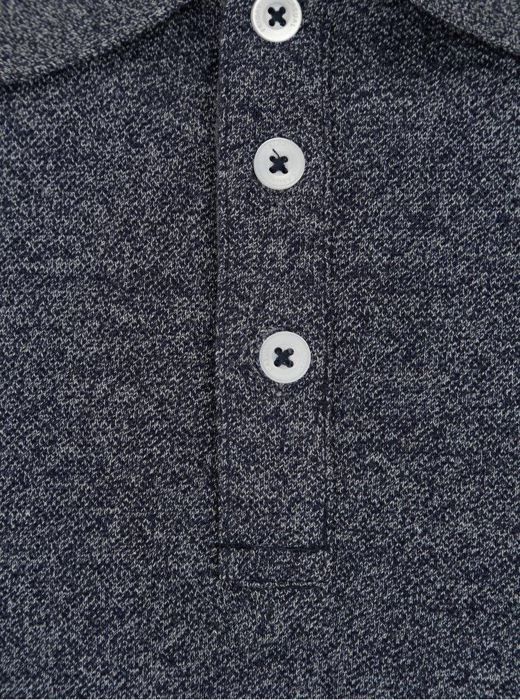 Tmavě modré žíhané polo tričko Casual Friday by Blend