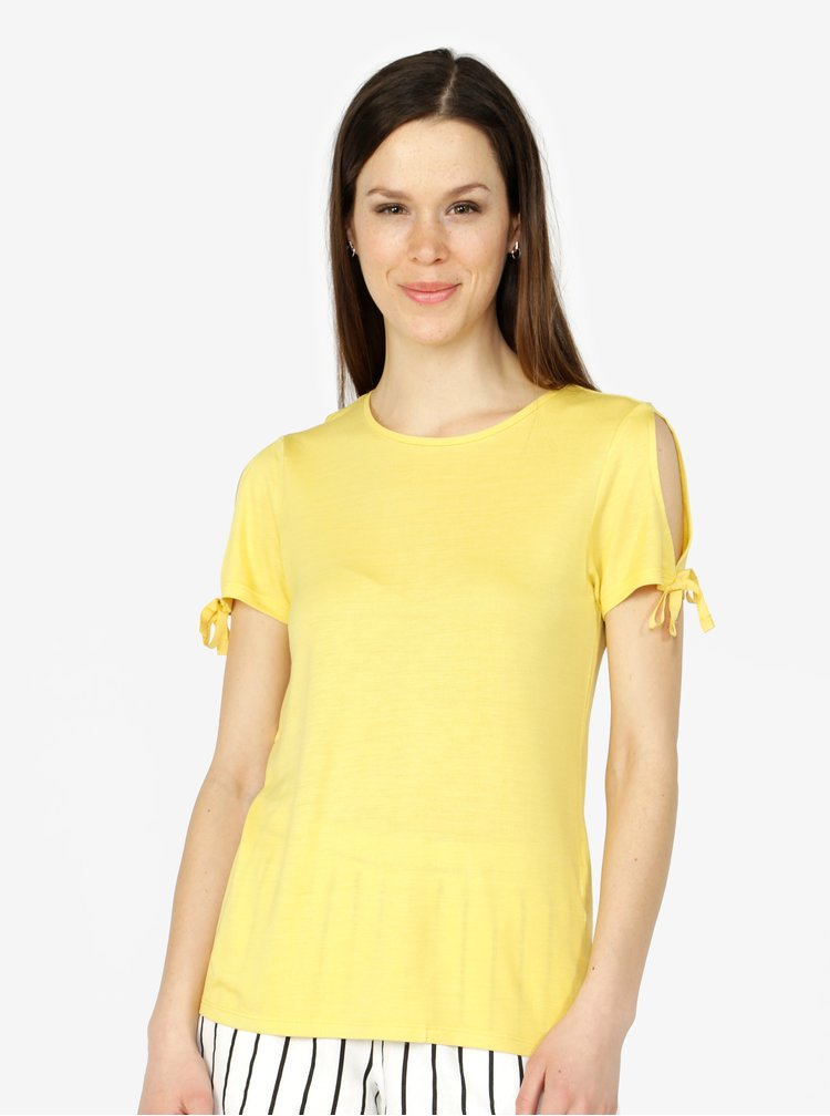 Žlté tričko VERO MODA Jemia