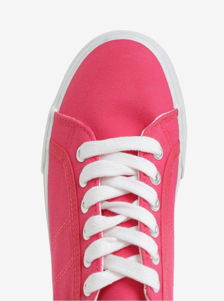 Růžové tenisky na platformě Tamaris