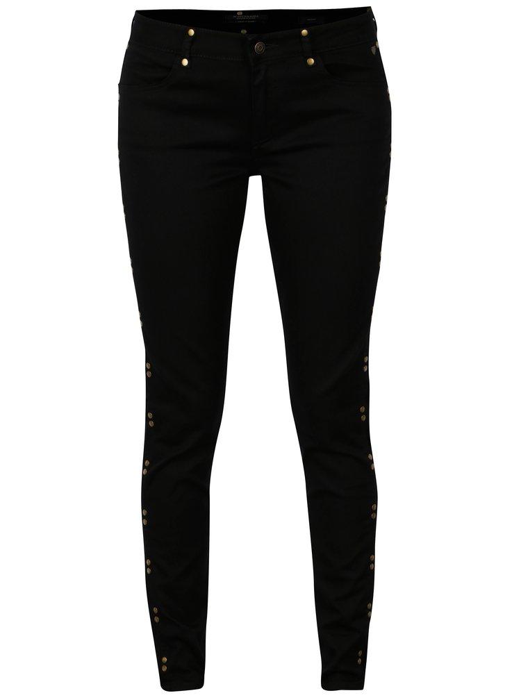 Černé skinny džíny se cvočky Scotch & Soda