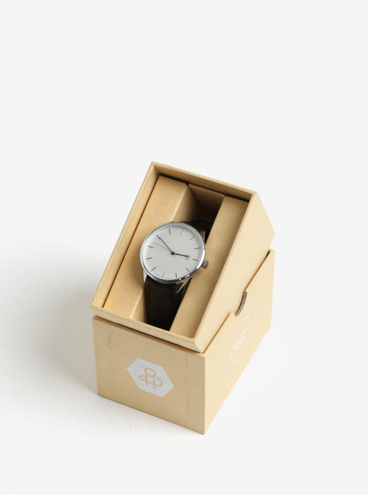 Ceas negru unisex CHPO Khorshid Silver