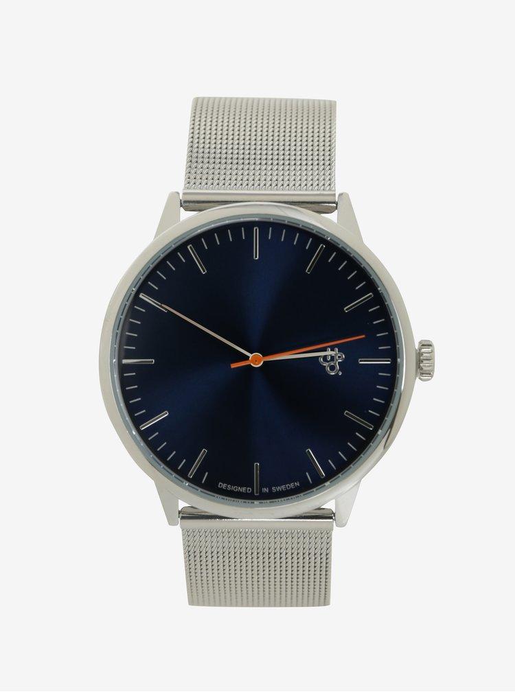 Unisex hodinky v striebornej farbe CHPO Nando Navy Silver