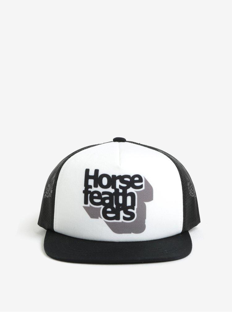 Bílo-černá klučičí kšiltovka Horsefeathers Craps