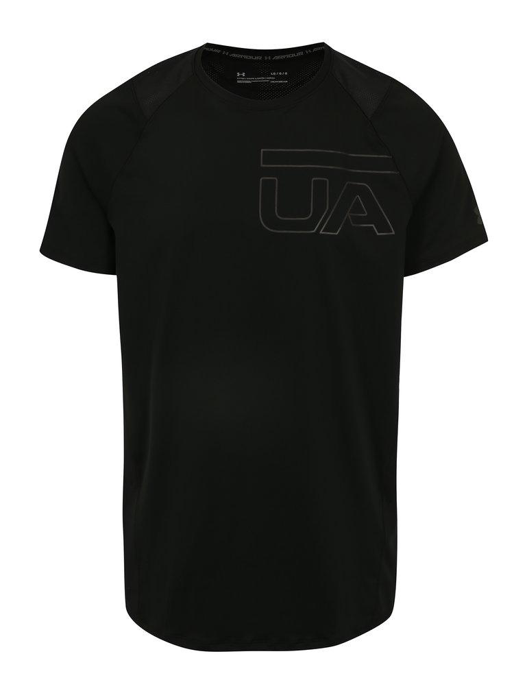 Černé pánské funkční tričko s potiskem Under Armour MK1