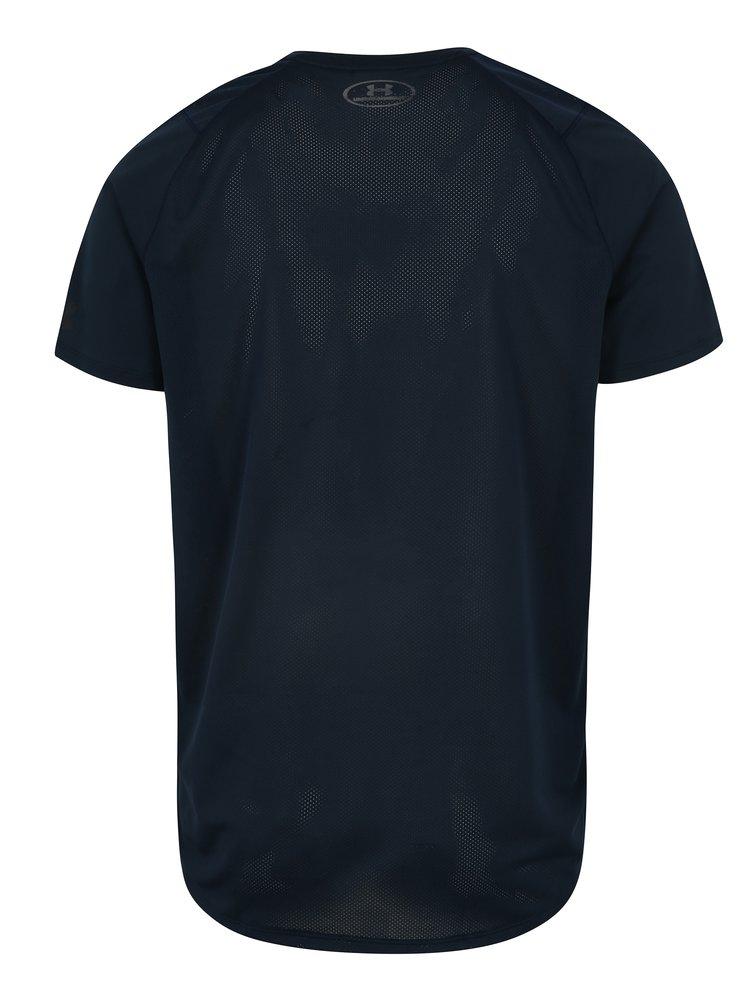 Tmavě modré pánské funkční tričko s potiskem Under Armour MK1