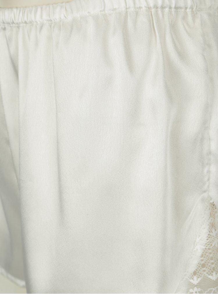 Krémové saténové pyžamo s krajkou na zádech Dorothy Perkins