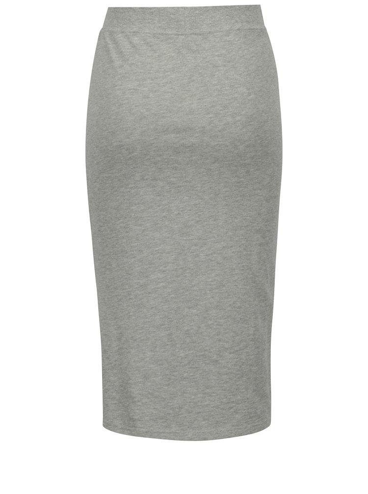 Světle šedá žíhaná pouzdrová sukně s pruhy Jacqueline de Yong Celinda