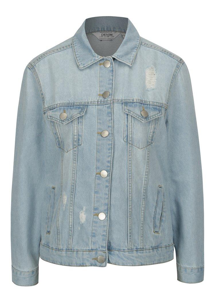 Světle modrá džínová bunda s potrhaným efektem Dorothy Perkins
