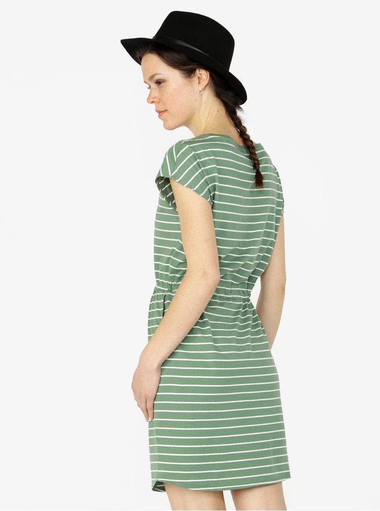 Zelené pruhované šaty VERO MODA April