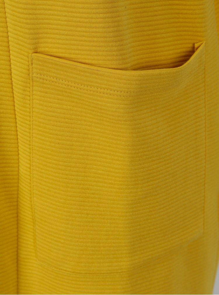 Žlutý žebrovaný kardigan s kapsami Jacqueline de Yong Boy
