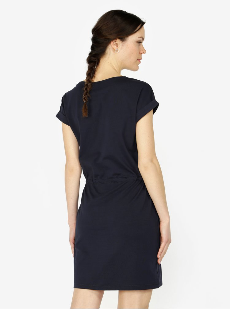 Tmavě modré šaty s krátkým rukávem ONLY Amber