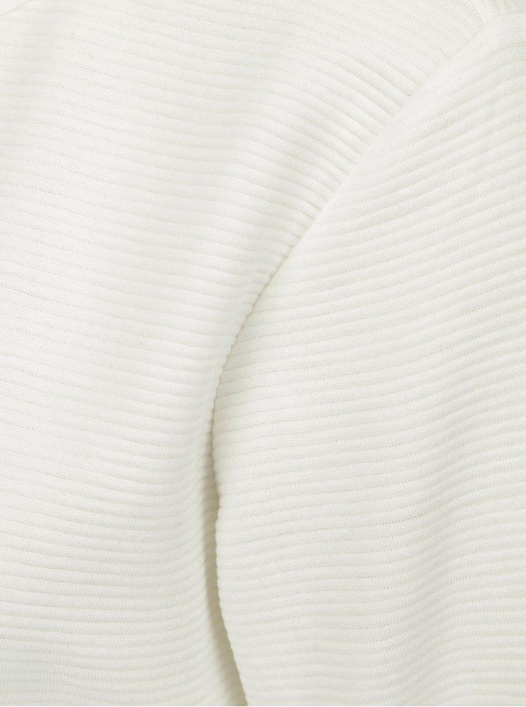 Krémové mikinové žebrované šaty s průstřihem na zádech Jacqueline de Yong Boy