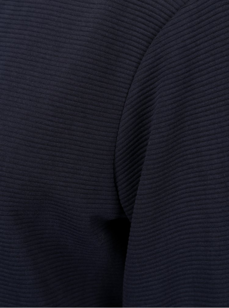 Tmavě modré mikinové žebrované šaty s průstřihem na zádech Jacqueline de Yong Boy
