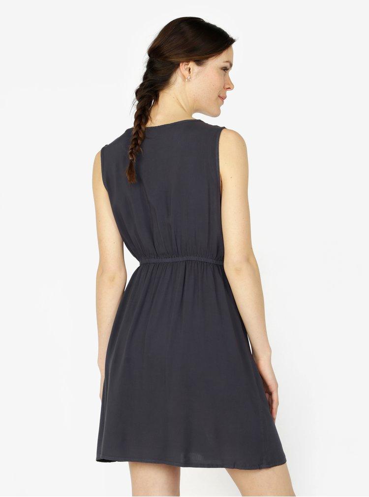 Tmavě modré šaty bez rukávů VERO MODA Boca