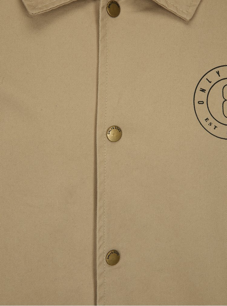 Béžová bunda ONLY & SONS Konner